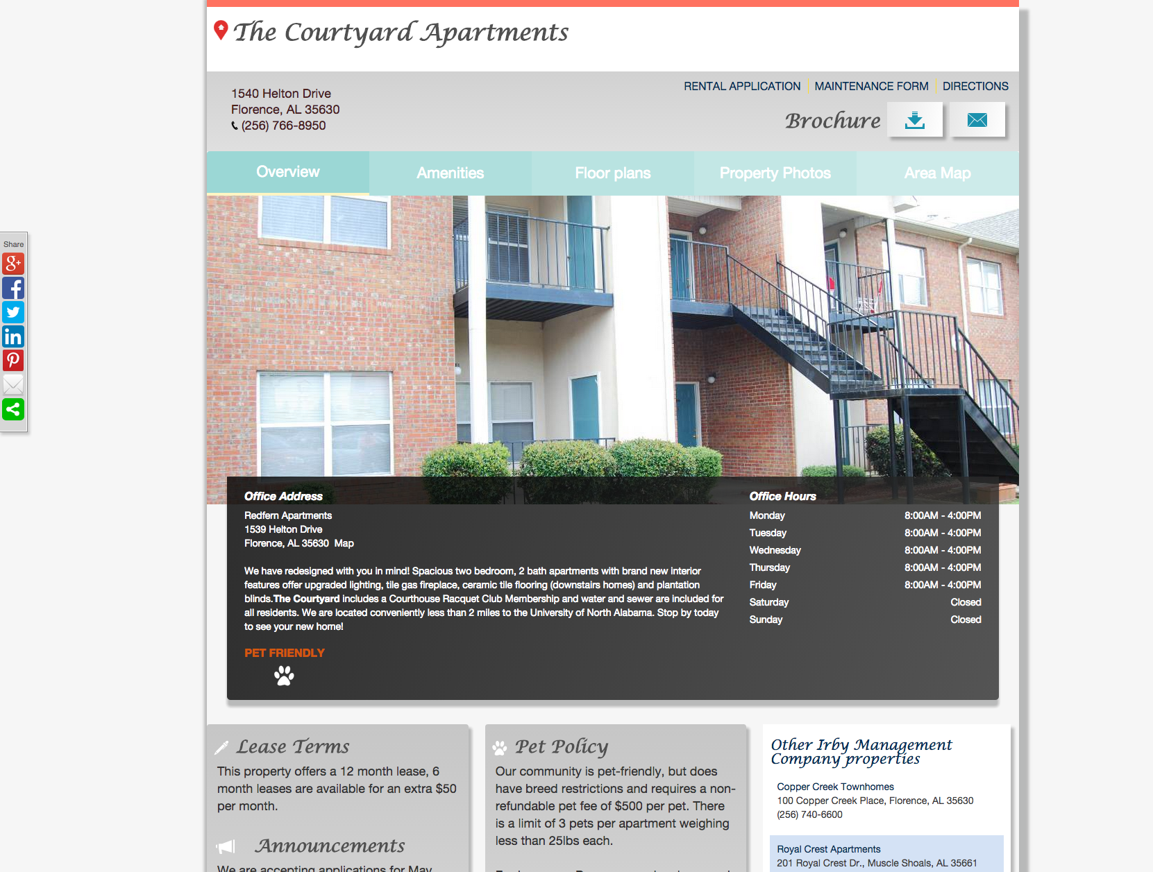 The Courtyard Apartments - Apartment Community Web Presence ...